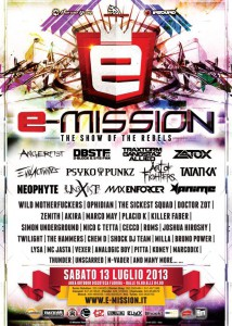 E-Mission Festival - The show of the rebels